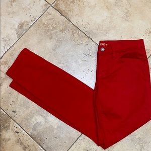 Ann Taylor Loft Red Skinny Jeans - Size 2